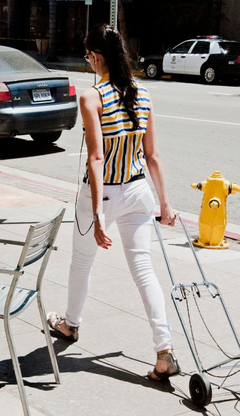 White jeans are all consuming in downtown. What do you think? Just enough, or not enough?