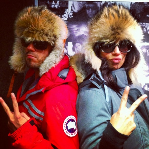 My best friend Carla and I goofing around at the Sundance Co-op repping some Canada Goose gear for their photo booth. Totes fun!