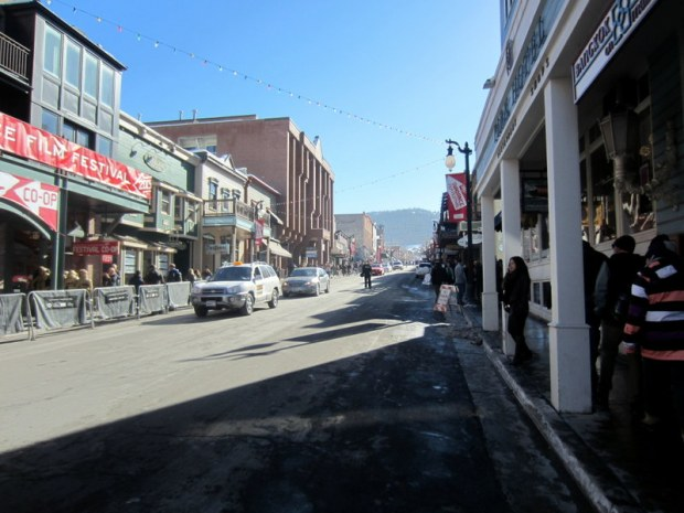 Where the majority of the Sundance action was taking place...Main Street in Park City.