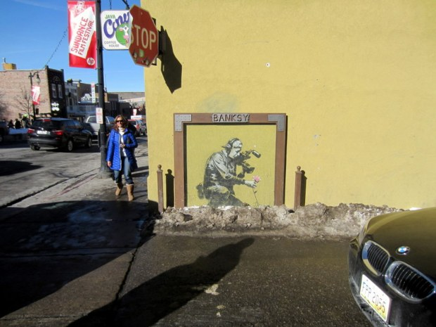 Ran into my favorite street artist Banksy while on the hunt for good art around Main Street in Park City.